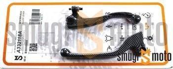 Dźwignie hamulca i sprzęgła TNT, Derbi Senda DRD '04-'10, Aprilia SX 50 SM H2O 2T '06-'10, carbon look