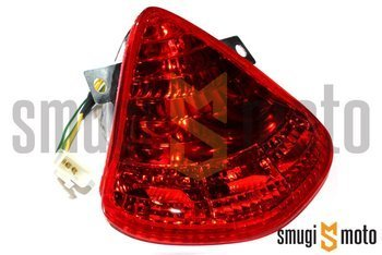 Lampa tylna, czerwony klosz, Aprilia RS 50 06-10 / Derbi GPR 50-125 04-08, GP1 50-250 05-09 (E)