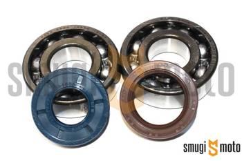 Łożyska wału i uszczelniacze SMG Racing Metal, Minarelli AM - do wału Top Racing High-Tech / MVT (20mm / 20mm, Koyo + Corteco)
