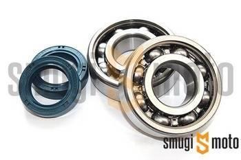 Łożyska wału i uszczelniacze SMG Racing, Peugeot leżący (Koyo + Corteco)