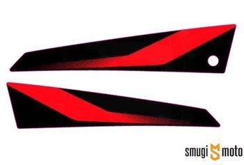 Naklejka błotnika przedniego, czerwona, Aprilia SX 125 '20- (prawa / lewa)