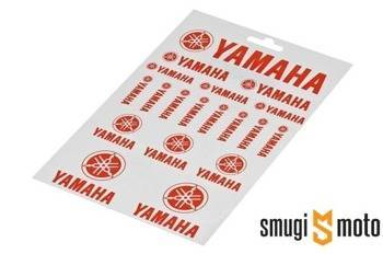 Naklejki Yamaha, czerwone, zestaw