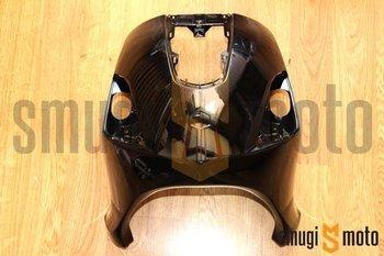 Osłona przednia (czacha), czarna, Derbi Bulevard 50-150 '08-14 / Piaggio FLY 50-150cc '04-12