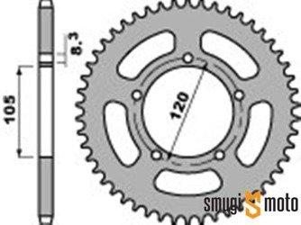 Zębatka tylna PBR [420], Aprilia RX '99-08 (5 śrub) (różne rozmiary)