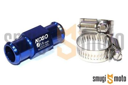 Adapter czujnika temperatury bez czujnika Koso, PT1/8, na wąż d.18mm