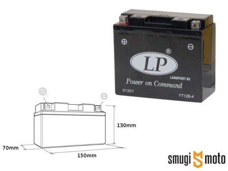 Akumulator Landport, YT12B-4 12V 11AH 151x70x130, bezobsługowy (zalany)