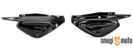 Boczek / boczna tylna owiewka TNT, czarna metallic, MBK Booster Next Generation (prawy / lewy)