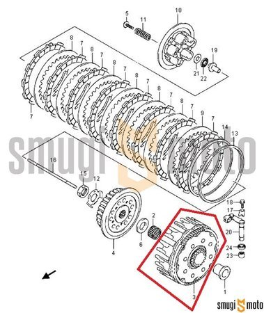 Kosz sprzęgła, Suzuki RM-Z 250 '10-19