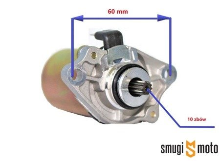 Rozrusznik elektryczny Power Force, 10z, Piaggio / Gilera / Honda / Peugeot