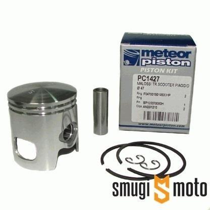 Tłok kompletny Meteor, Malossi 70cc, Piaggio / Morini LC, jedno okno (różne rozmiary)