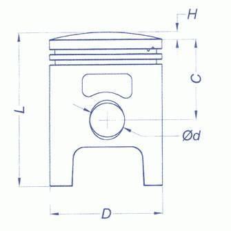 Tłok kompletny Vertex, Stage6 / Hebo / Polini, d.47,60mm, sworzeń 10mm, jeden pierścień (różne selekcje)